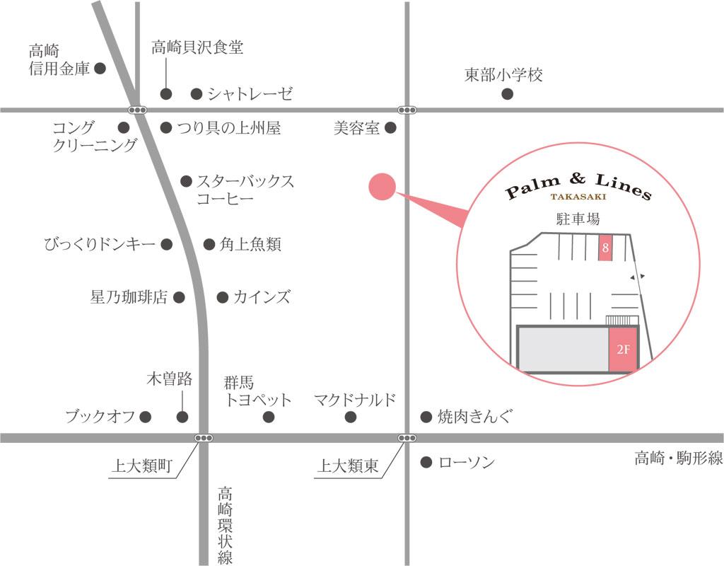 高崎サロンの地図